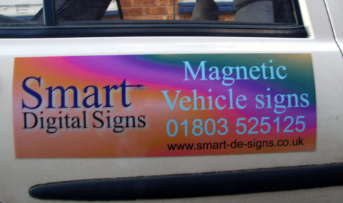 Magnetic Vehicle Sign 600mm x 200mm