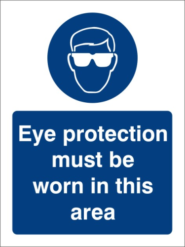 Eye protection 150mm x 250mm