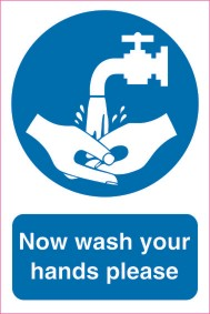 Now wash your hands 200mm x 300mm