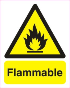 Flammable 200mm x 250mm