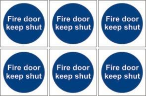 Fire door keep shut pack of six