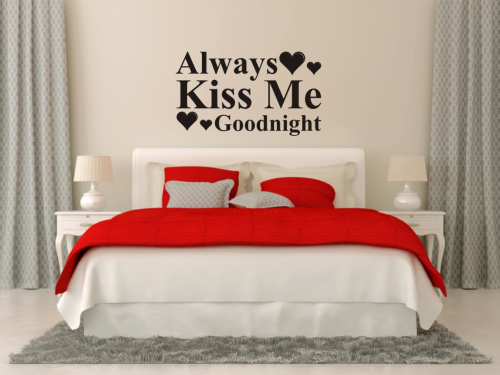 Wall art Always kiss me goodnight