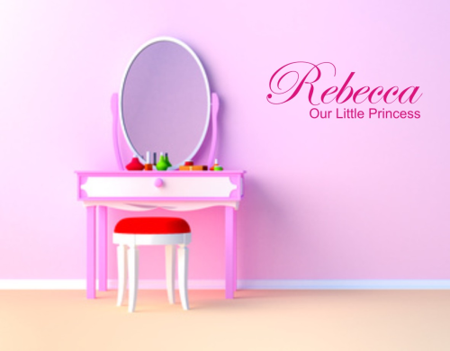 Wall art personalised Our little princess