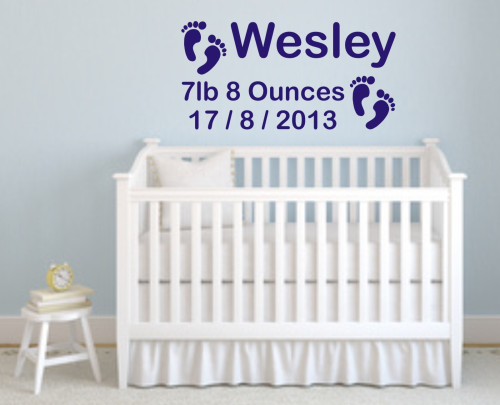 Baby Feet Wall Art 700mm x 350mm