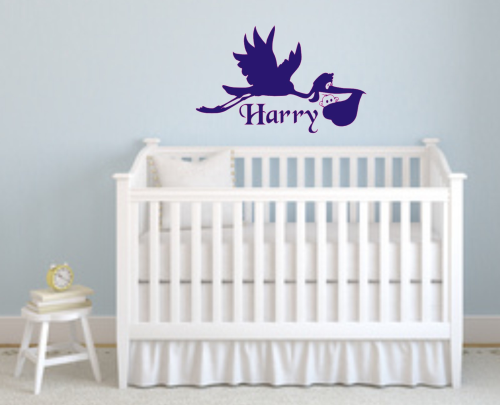 Baby Stork wall art 700mm x 440mm