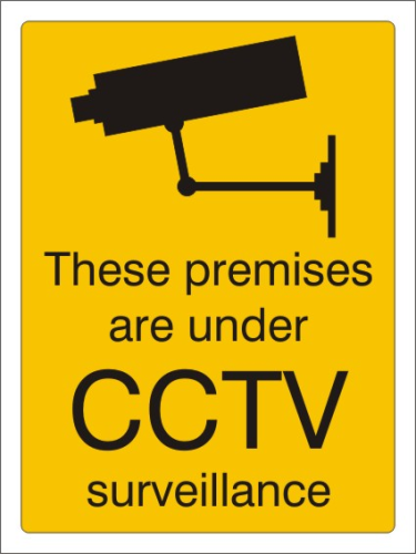 cctv 100mm x 75mm pack of 6
