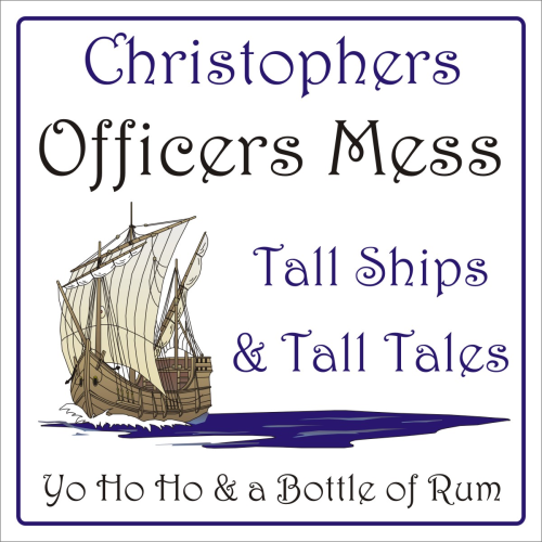 Officers Mess sign 200 x 200mm