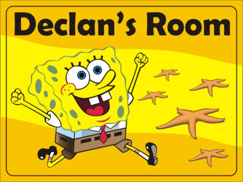 spongebob name plate